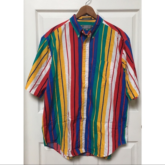 46d7ab6fb98c Vintage Shirts | Vtg 80s Lord Taylor Striped Button Down | Poshmark